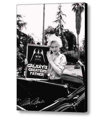 Framed Marilyn Monroe Star Wars Darth Vader Galaxys Greatest Father ...