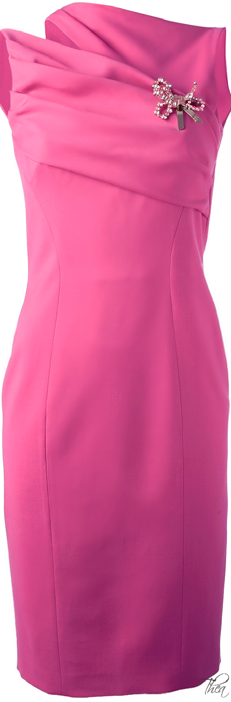 DSquared2 ● Pink Asymmetric Shoulder Dress