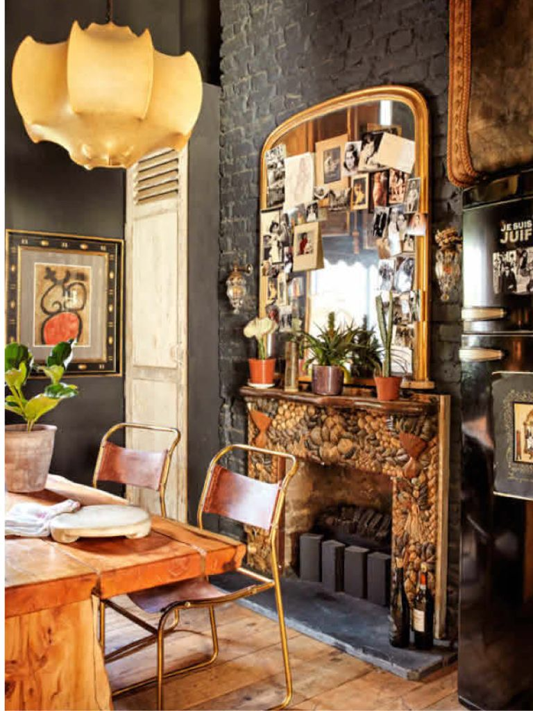Vintage mitte jahrhundert wohnzimmer rustic vintage  living in color and textures  pinterest  haus