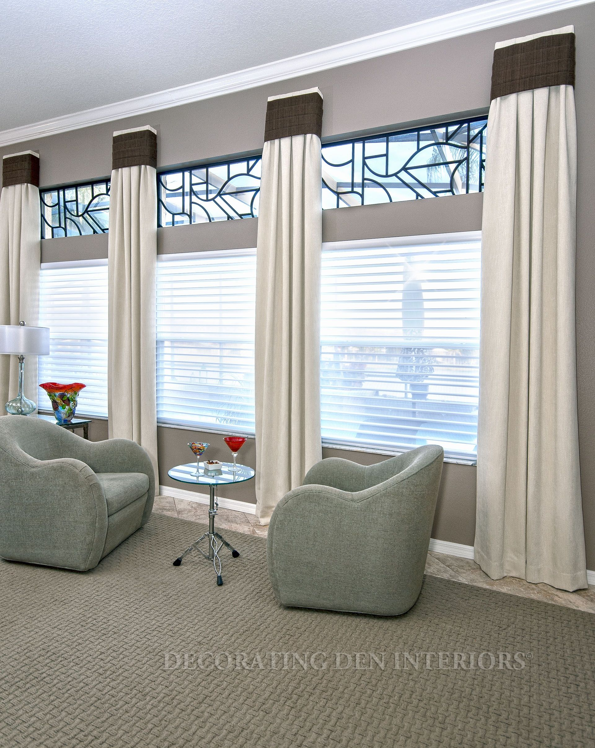 Custom window treatments designer curtains shades and for Window blinds ideas