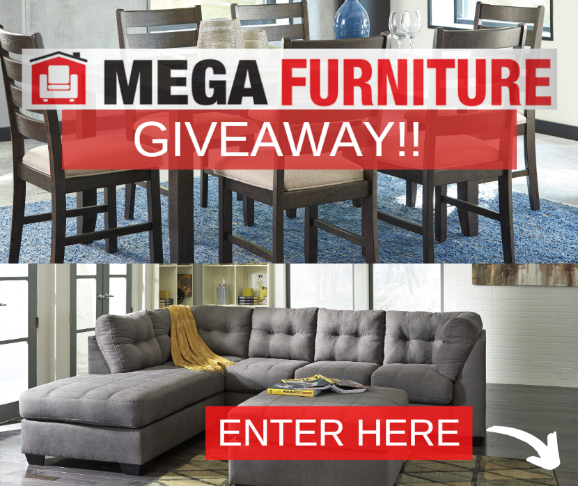 Our Mega Furniture Giveaway Is Almost Over We Ve Providing You A Chance To Say I Love You Mom With A Mega Moth Mega Furniture Furniture Furniture Giveaway
