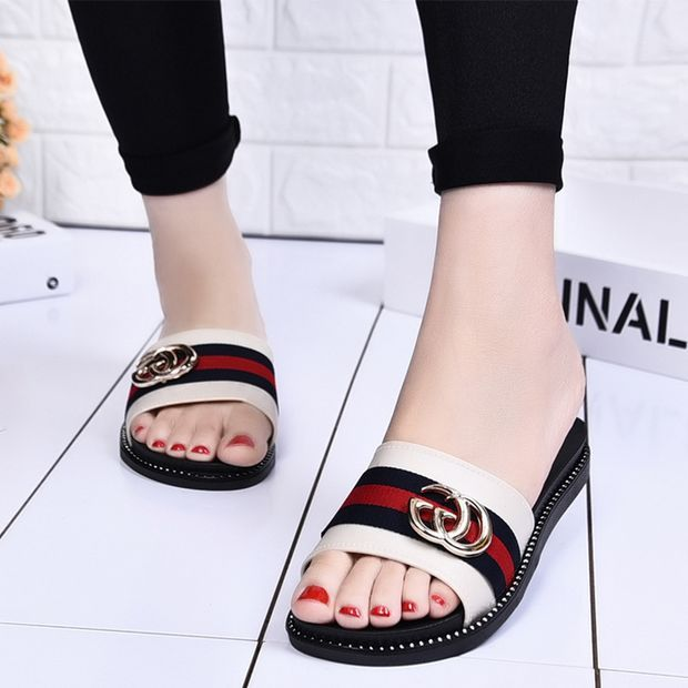 1ad5b3af2c8 GUCCI Fashion Women Sandal Slipper flat Shoes- SALE