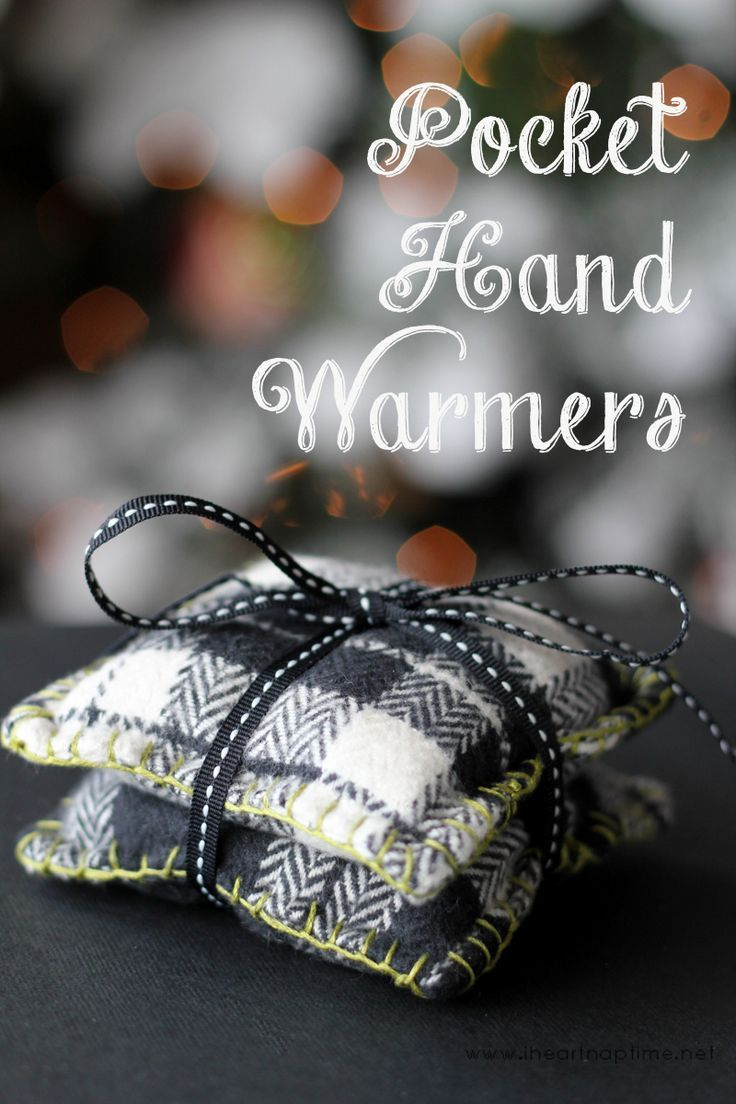 Pocket Hand Warmers #diychristmasgifts