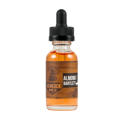 Hemlock Vapor Co Almond Bartlett - Complex blend of sweet bartlett pears with a natural unsweetened almond after taste!70% VG