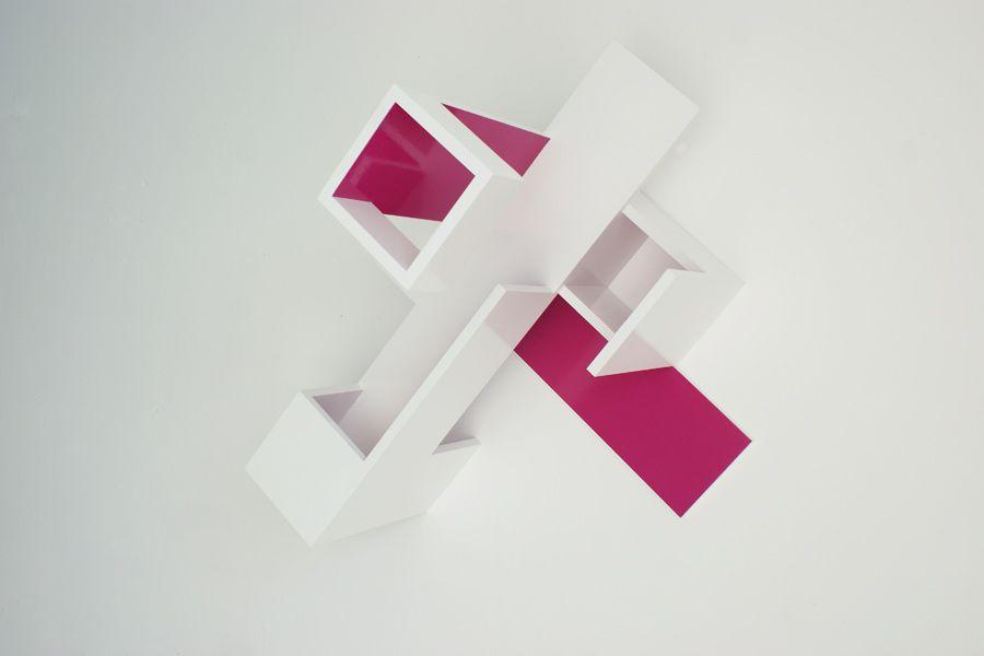Brantt - Magenta-20/80.100.70, 80 x 100 x 70 cm., high gloss paint on MDF
