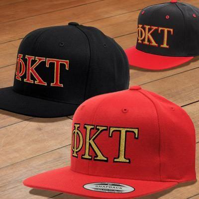 Phi Kappa Tau Classic Snapback Cap - Yupoong 6089 - EMB  35a118fb89b1