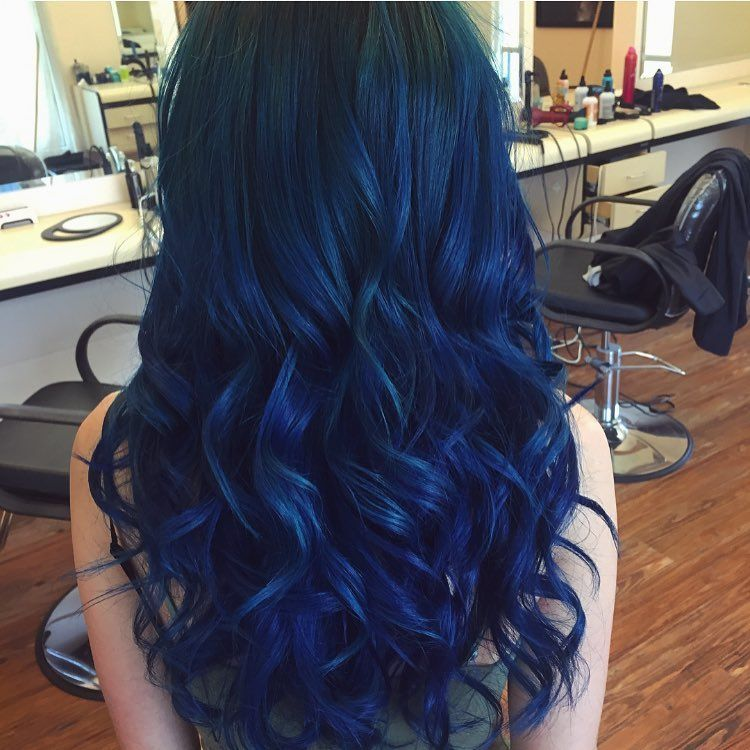 Blue Beach Waves Colored With Pravana Vivids Heather Panopoulos