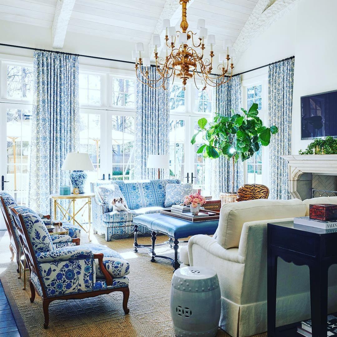 Blue White L Living Room Designed By Legend Charlottemossco