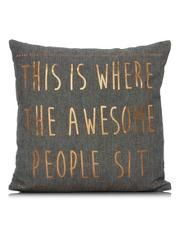 George Home Where Awesome People Sit Copper Cushion