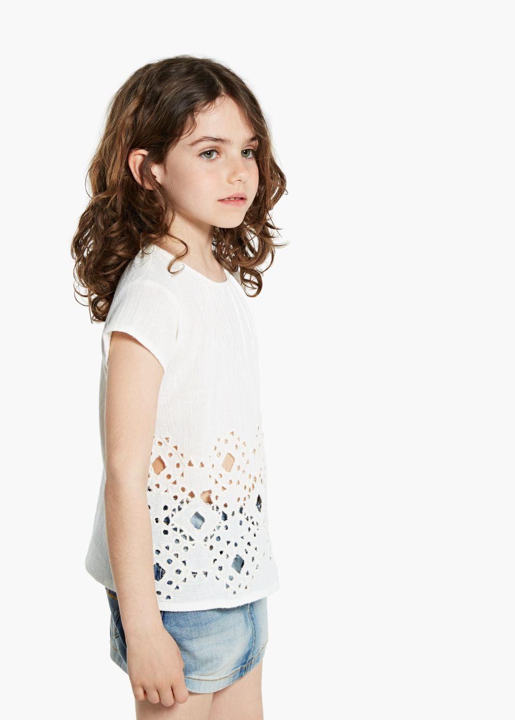 Blusa bordada textura