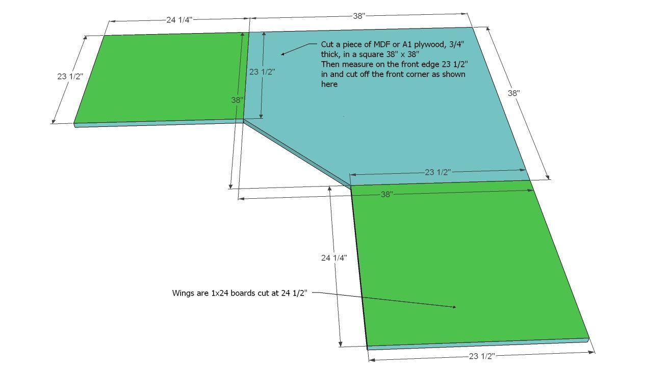 Office Corner Desktop Plans | Woodworking desk plans, Desk ...