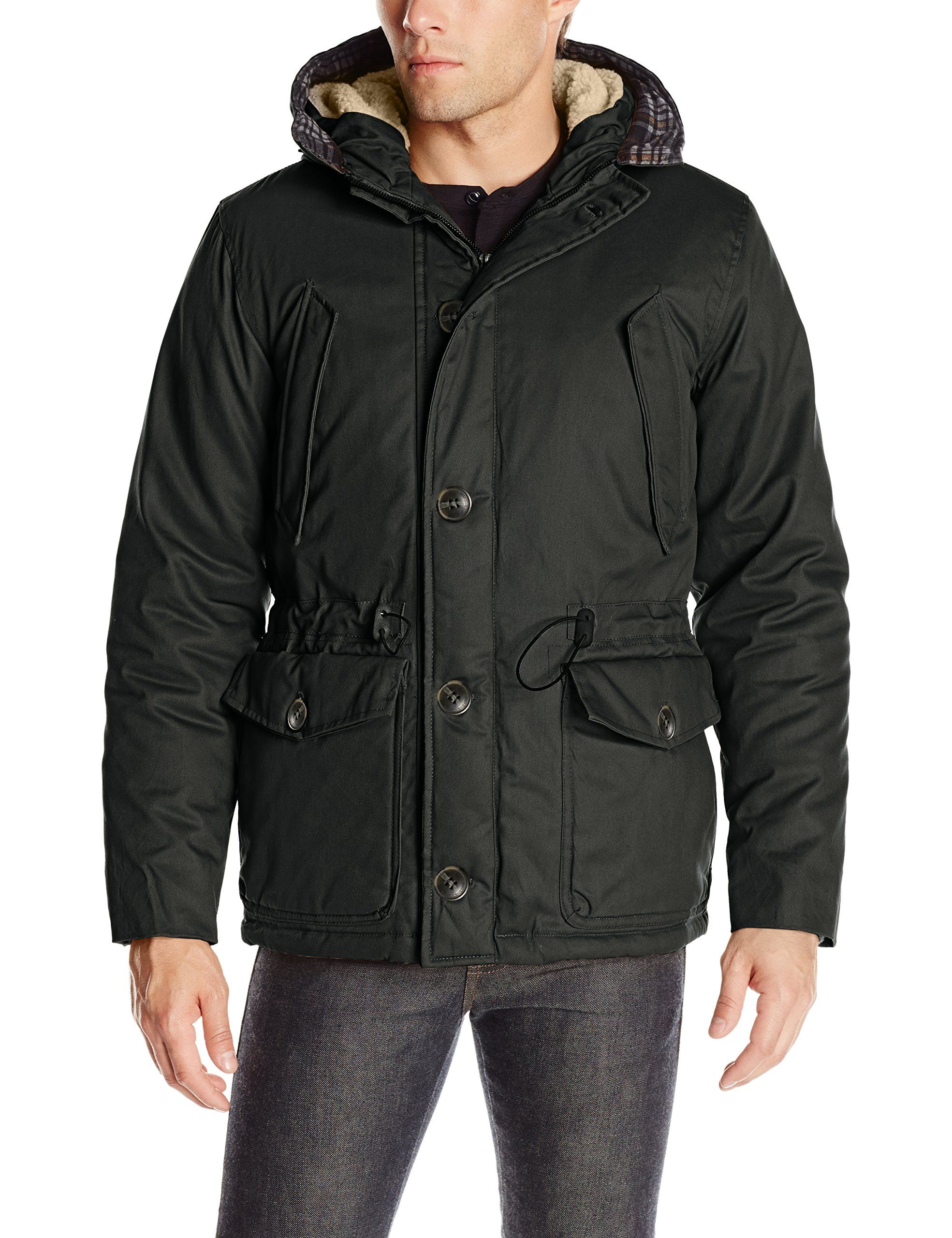 English Laundry Mens Wax Cotton Hooded Parka Black Medium Click Image For More Details This Is An Hooded Parka Jacket Outerwear Jackets Outerwear Fashion [ 2560 x 1969 Pixel ]