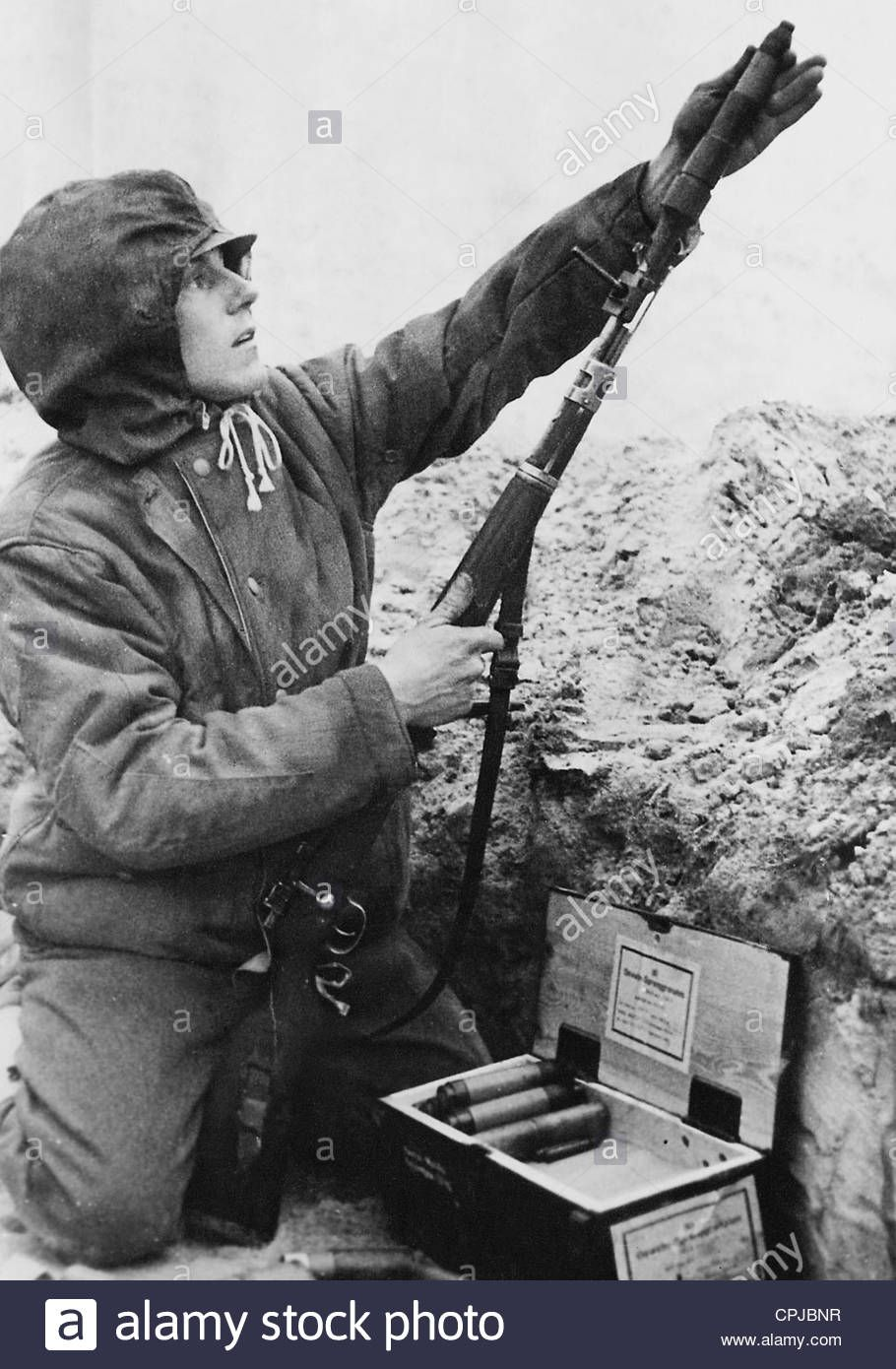 Image result for ww2 german soldier with rifle grenade