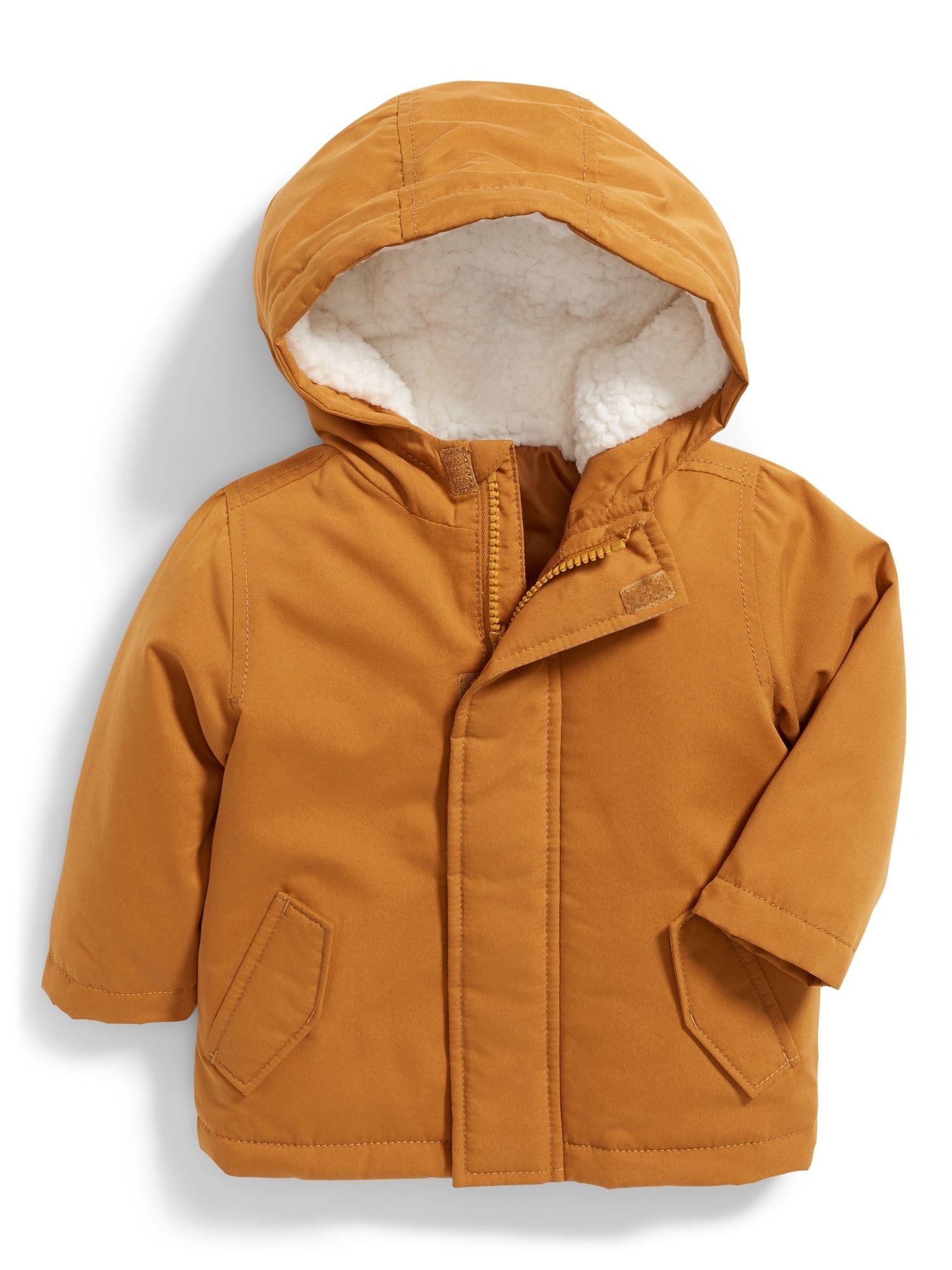 Hooded Parka For Baby Baby Boy Jackets Boy Outerwear Boys Jacket [ 2000 x 1500 Pixel ]