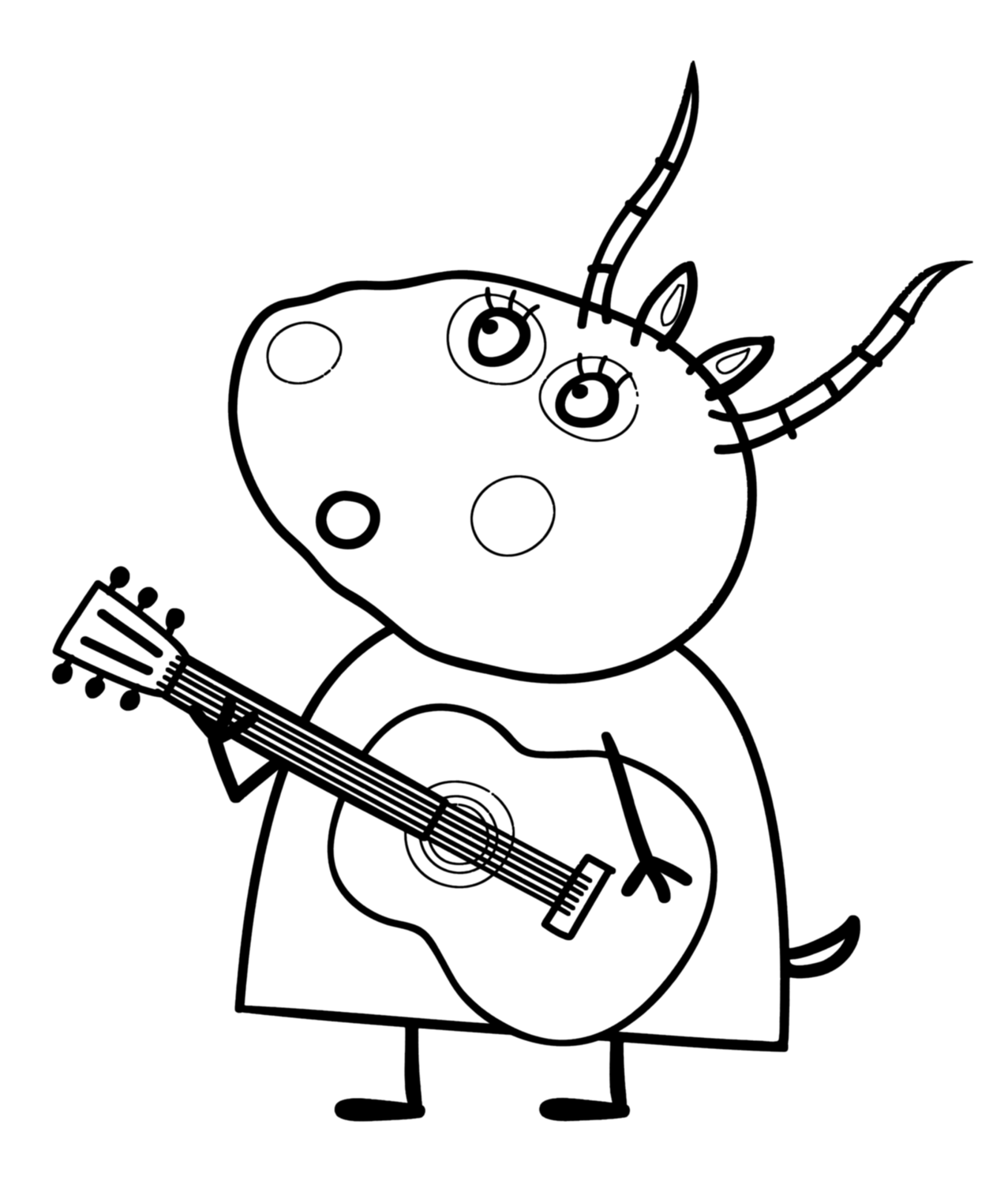 Best Peppa Pig And Friends Coloring Pages 1 1277×1500