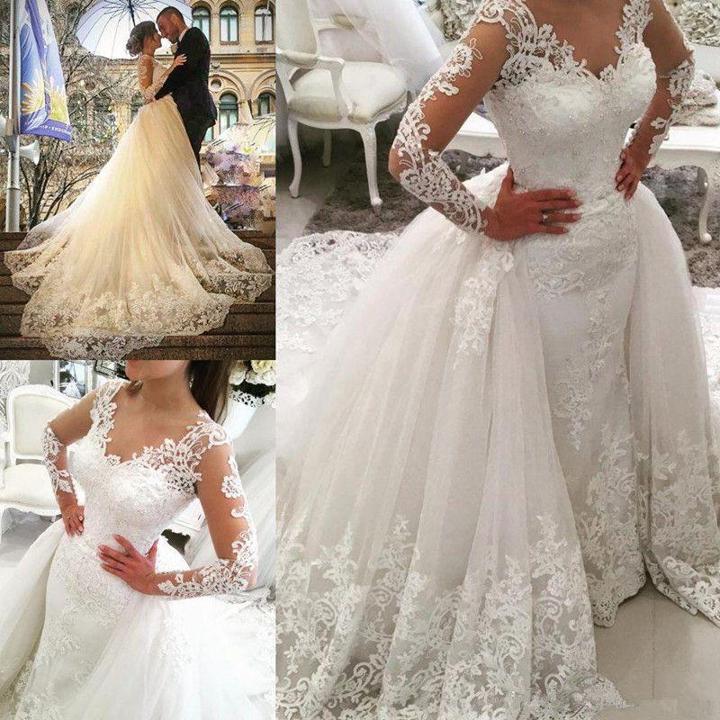 nueva arabia Árabe sobre la falda vestidos de novia de encaje
