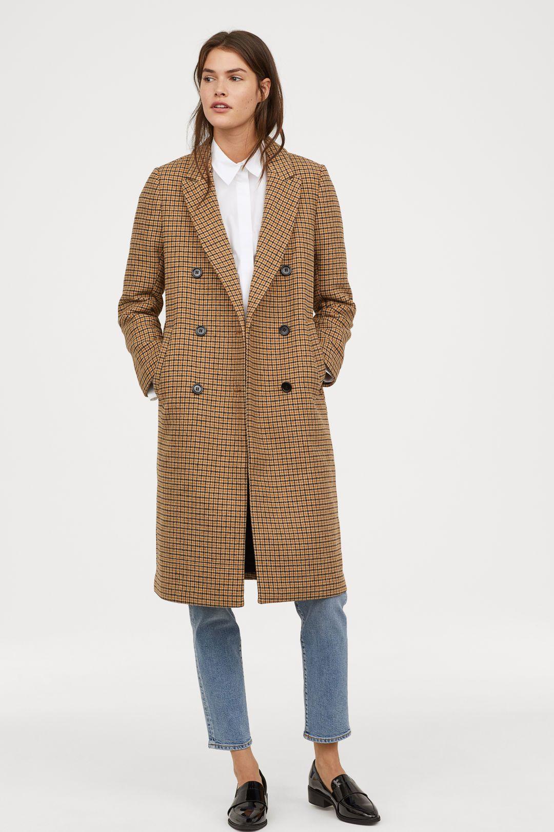 Dubbelknäppt kappa | W O R K | Double breasted coat, Plaid