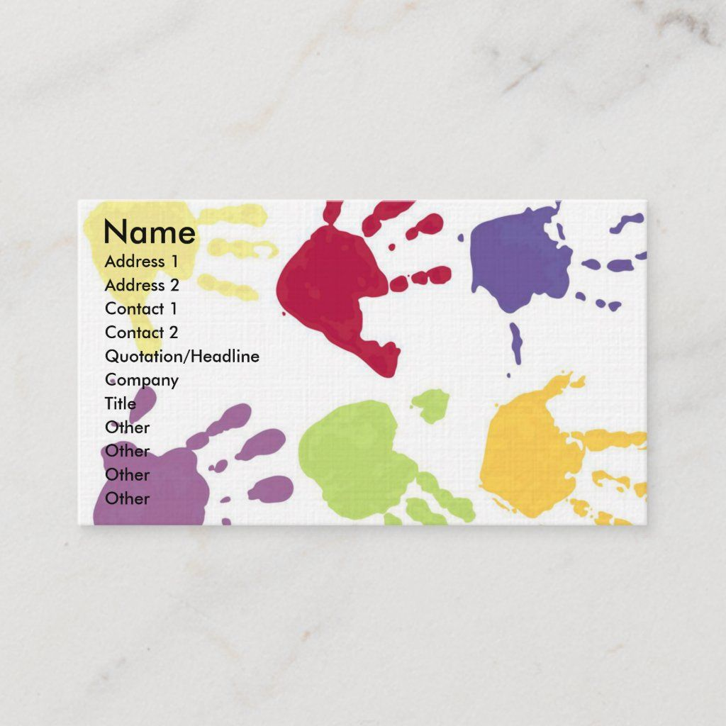 Photo of Childcare Business Cards