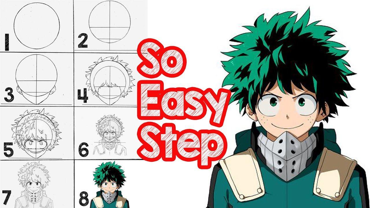 photo How To Draw My Hero Academia Characters Deku my hero academia izuku midoriya