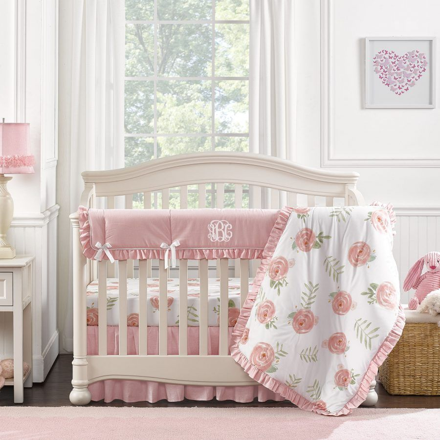 Pink Peony Crib Bedding Set With Quilt With Images Crib