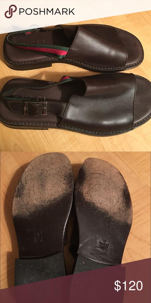 f8c3c9bfd08b Men s Gucci sandal Men s Gucci scandal. Pure leather. Authentic and super  comfy. Gucci Shoes Sandals   Flip-Flops