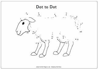 Farm Animal Dot to Dots Puzzles