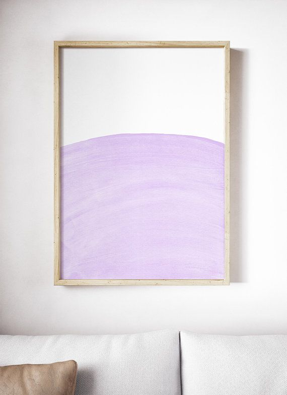 Light Purple Art Print Pale Painting Abstract Violet