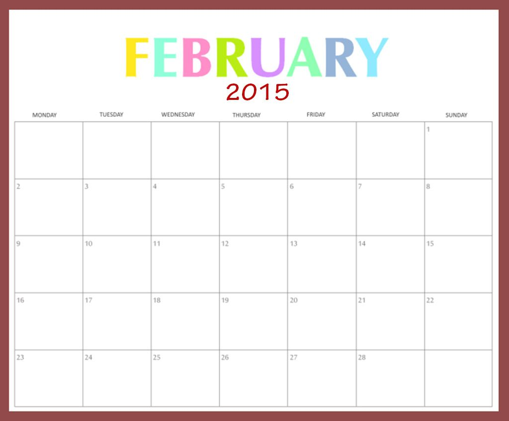 February 2015 calendar february 2015 calendar cute new for 2015 yearly calendar template in landscape format
