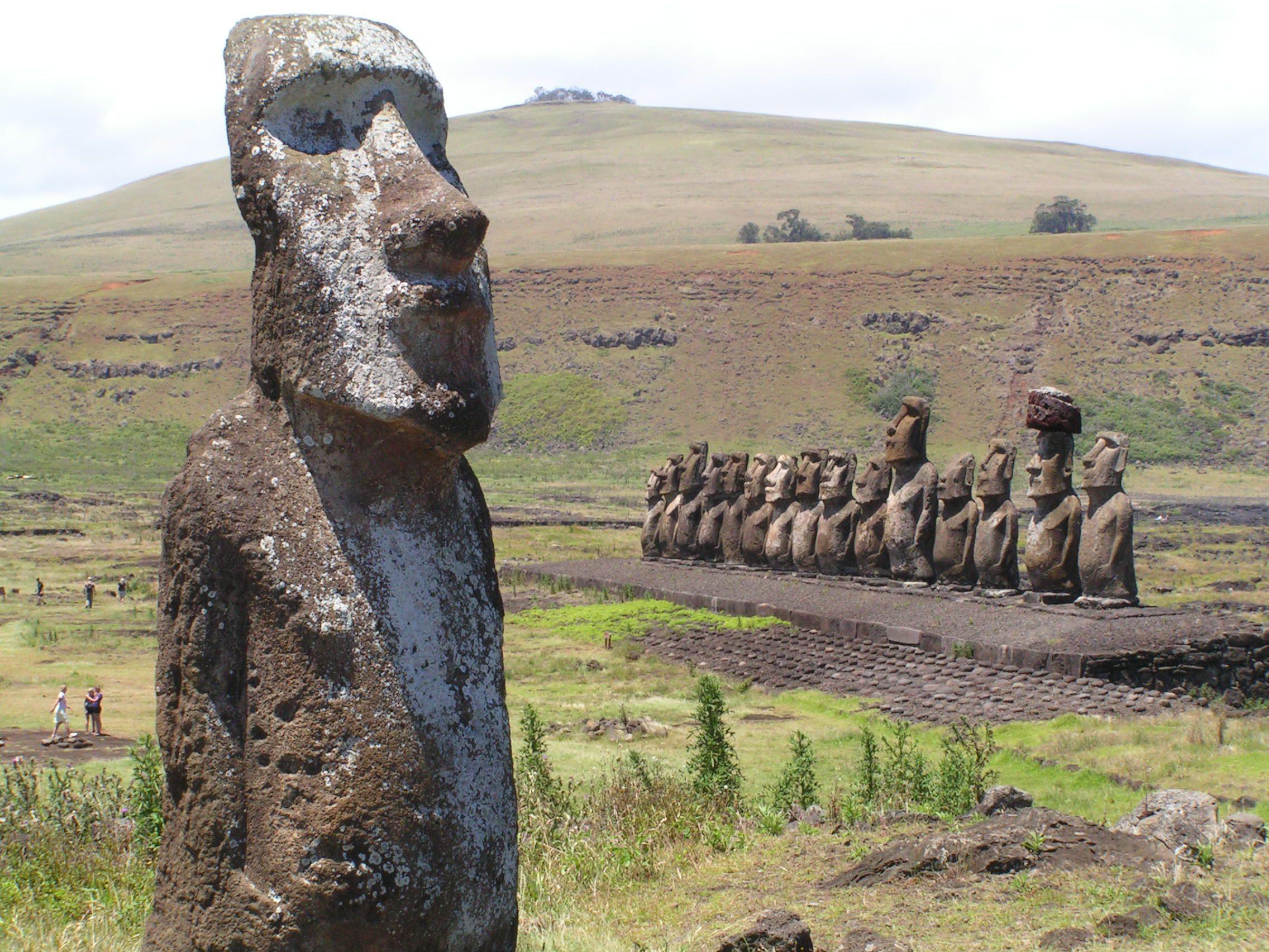 Easter Island, Ahu Tongariki, Moai (Print #11994454) Print