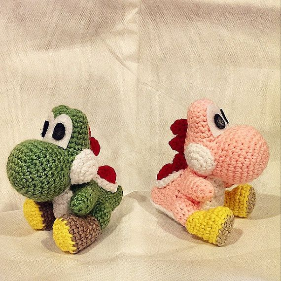 Yoshi Amigurumi Crochet Pattern Pdf By Sirpurlgrey On Etsy Crochet