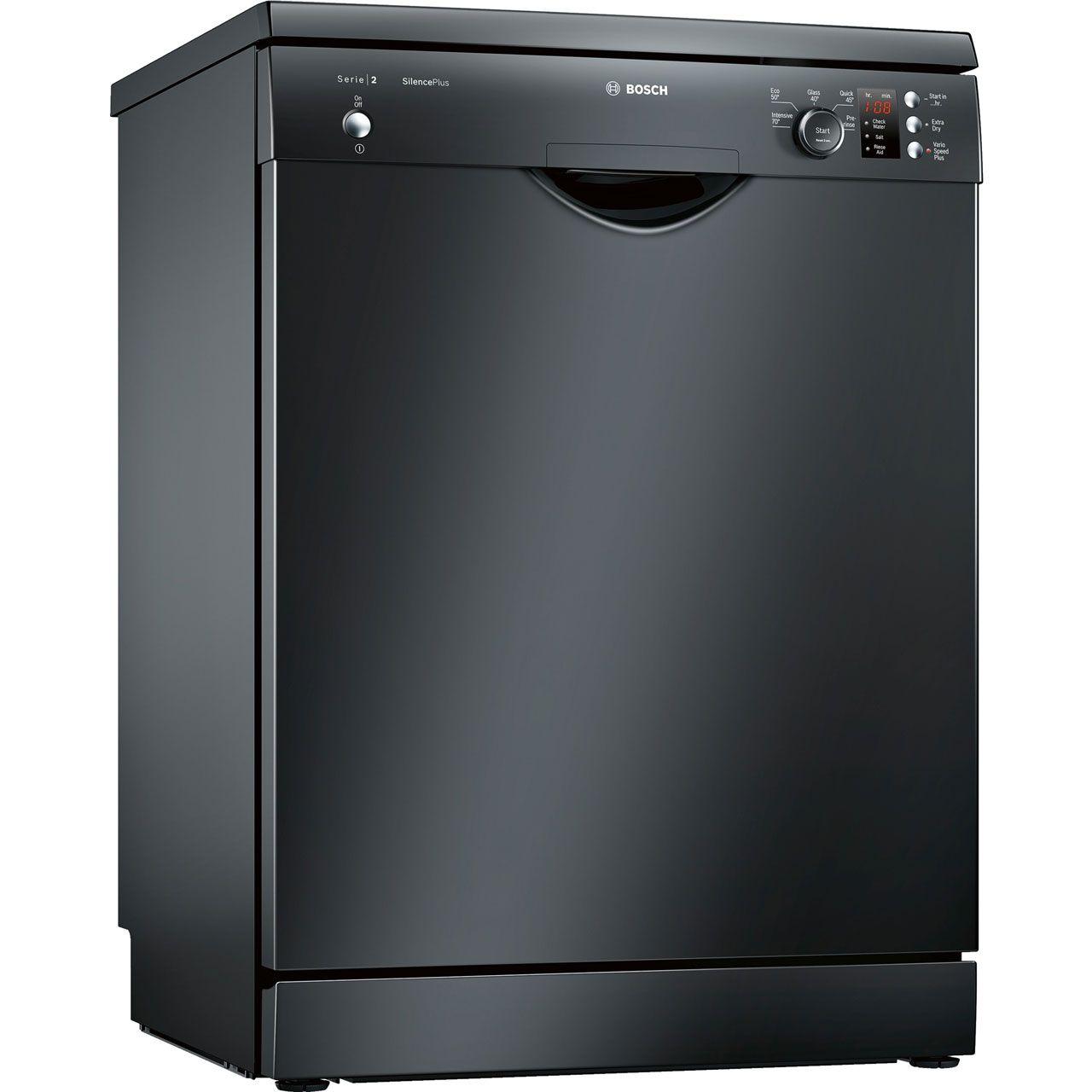 Bosch Serie 2 SMS25EB00G Standard Dishwasher Black A++