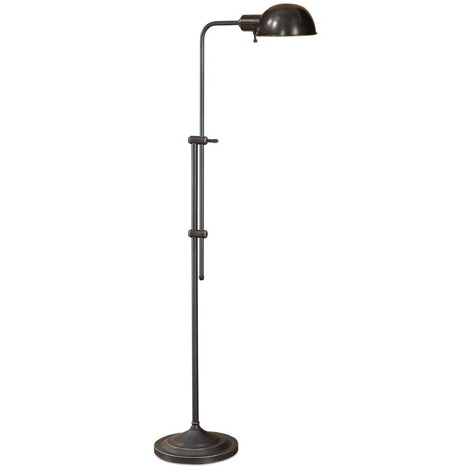 Lite Master Charlton Floor Lamp In Oil Rubbed Bronze On Solid Brass Finish F5613rz In 2021 Floor Lamp Brass Finish Metal Lamp