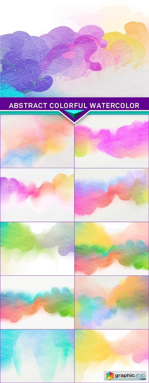 Abstract colorful watercolor for background 11x JPEG  stock images