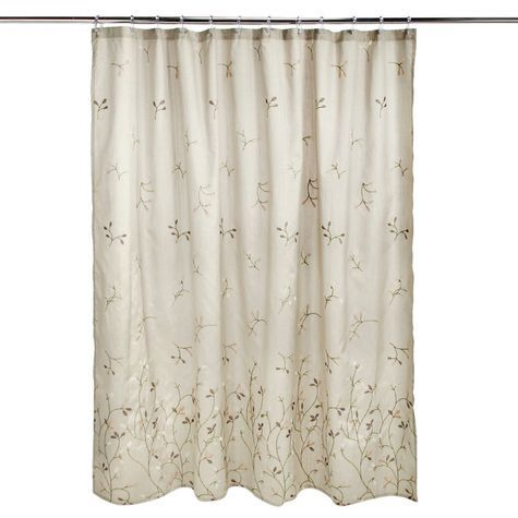 Embroidered Leaves Farbic Shower Curtain Shopko Curtains Bathroom Paint Colors Shower Curtain