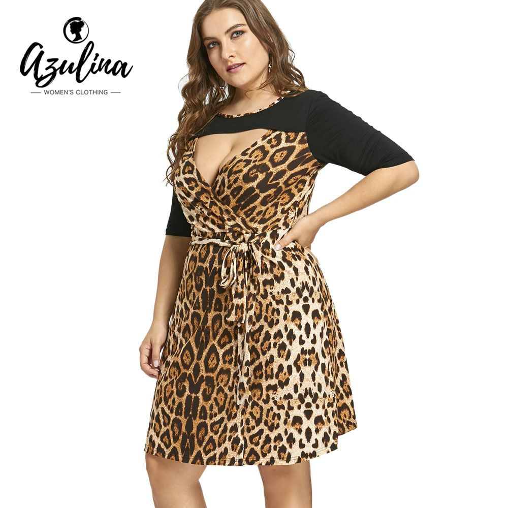 b4b735185d Plus Size 6XL 7XL Leopard Printed Keyhole Evening Party Dress Price  39.82    FREE Shipping  computers  shopping  electronics  home  garden  LED   mobiles  rc ...