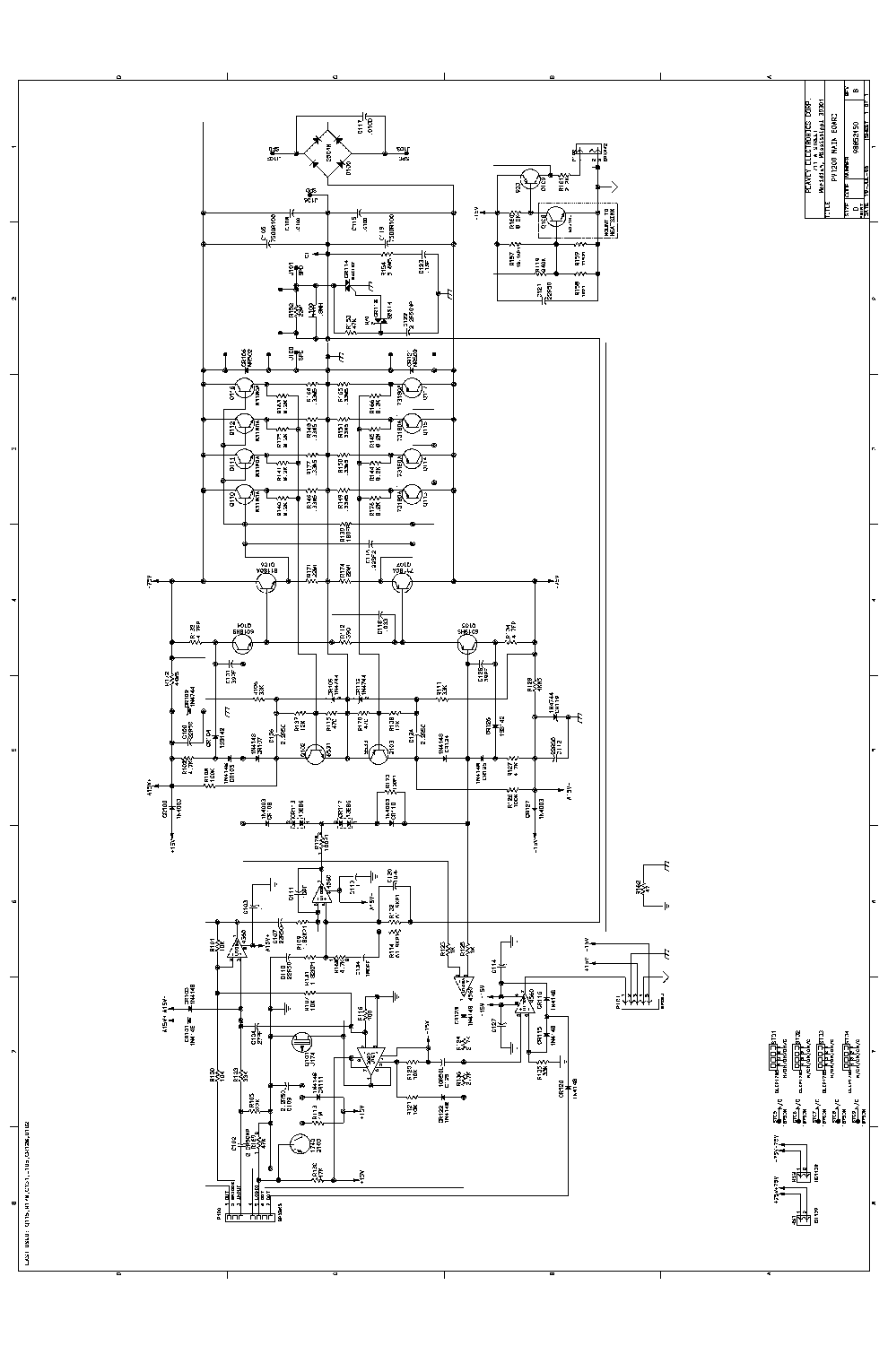 PEAVEY NASHVILLE 400 Service Manual download, schematics