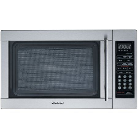 Magic Chef 1 3 Cu Ft 1000w Countertop Microwave Oven Stainless