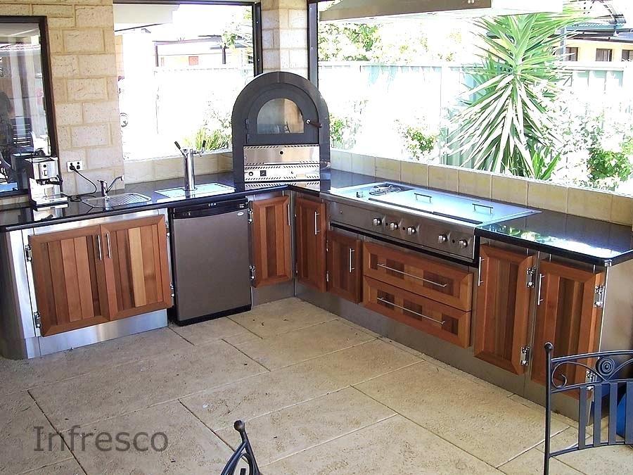 Best Outdoor Kitchen Cabinets For Cedar Doors And Alfresco