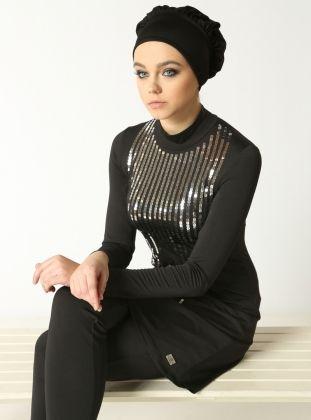 700251fea3 Sequin Swimsuit - Black & Black - Mayovera | Alt Hijab/Niqab in 2019 ...