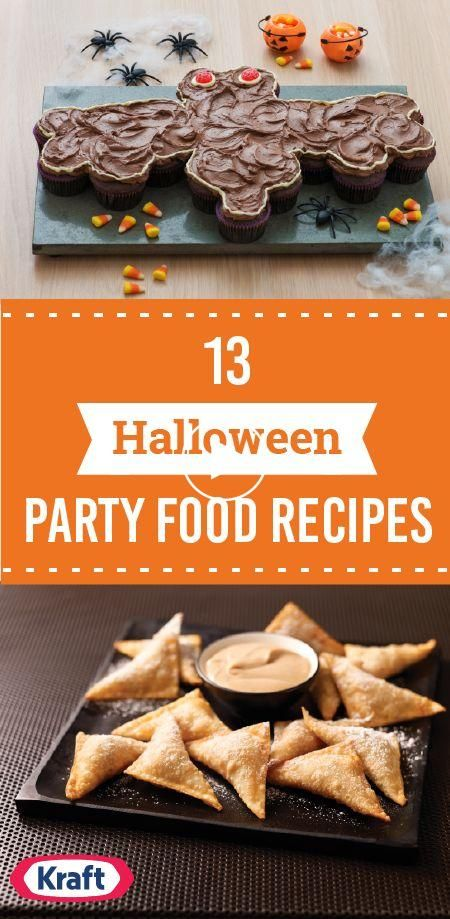 13 Halloween Party Food Recipes  Dressing up playing games nibbling appetiz  13 Halloween Party Food Recipes  Dressing up playing games nibbling appetizers made to look like bat wings or tombstones. It can only mean one thing: Its time for a Halloween party menu! If youd like help planning a fright fest theyll be talking about for yearsyouve come to the right place thanks to these delicious recipes.  Source by myfoodandfamily #octoberfestfood
