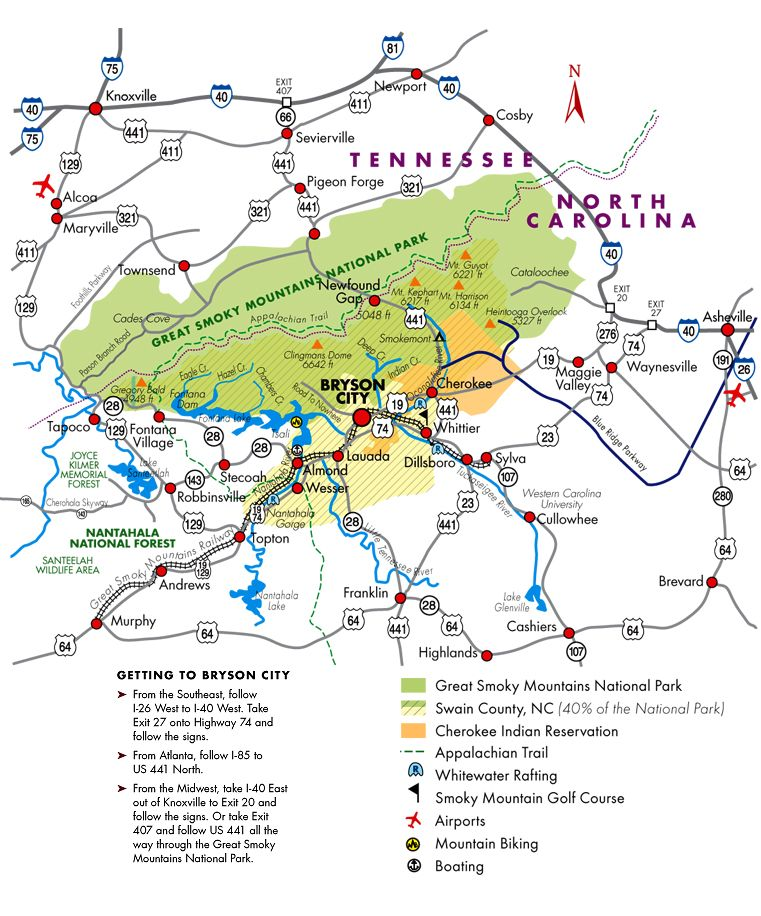 Bryson City Nc Map Bryson City NC area Map | Hidden Creek Cabin Rentals | Bryson city
