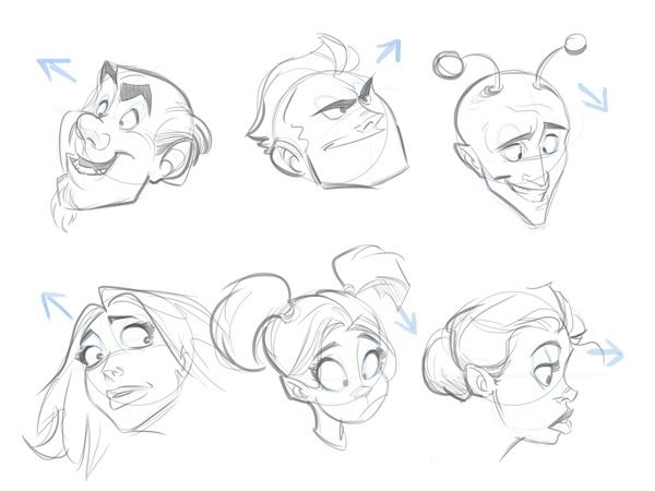 cartoonfaces-template-angles-completejpg Heads Pinterest - character references template