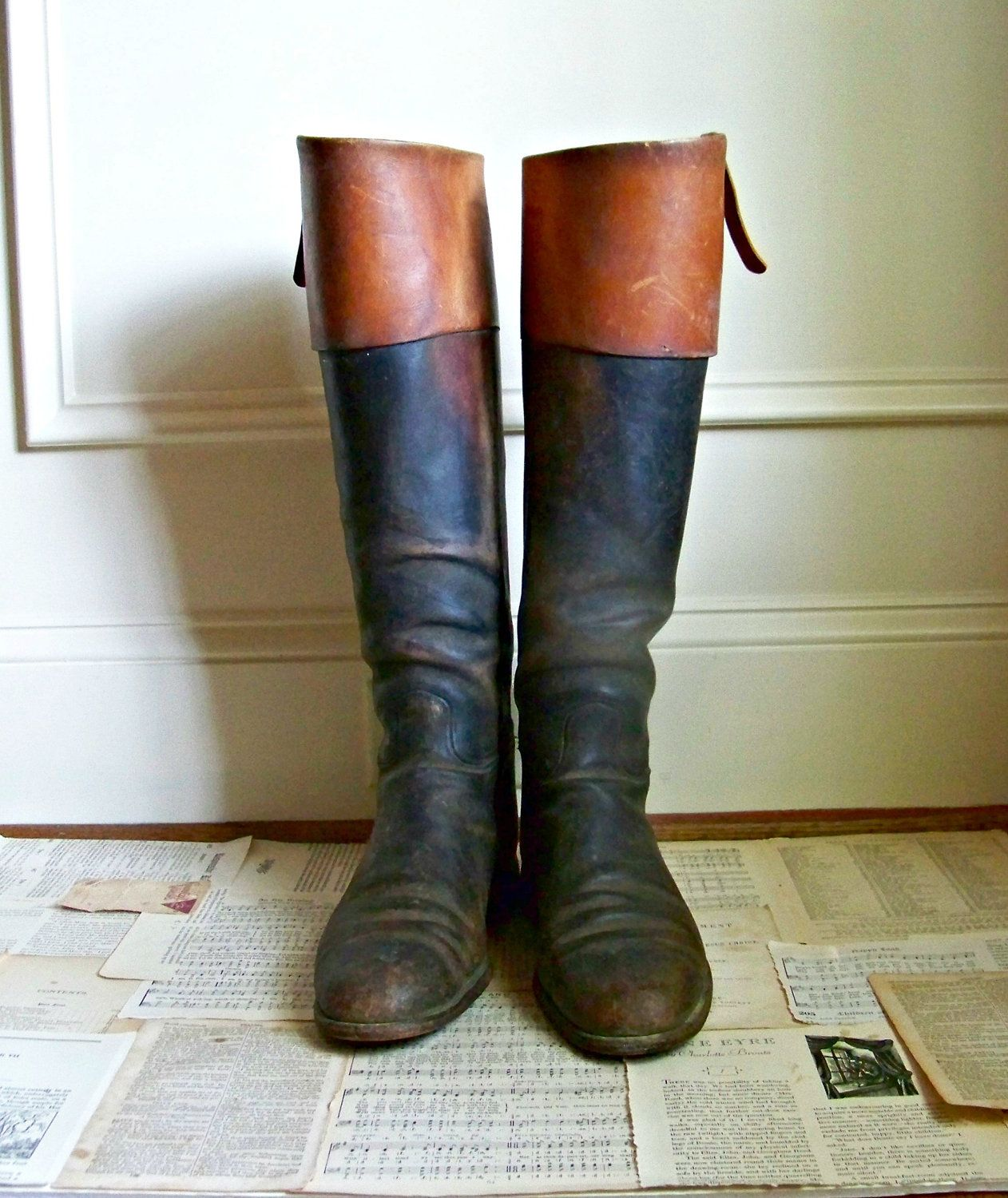Vintage Riding Boots. $225.00, via Etsy. | Riding boots