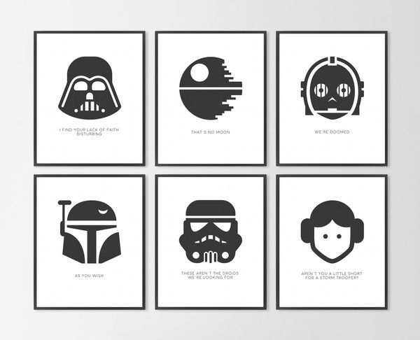 photograph about Printable Star Wars Images named 6 8x10\
