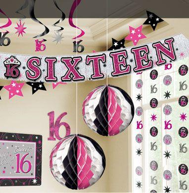 Sweet 16 Birthday Decorations