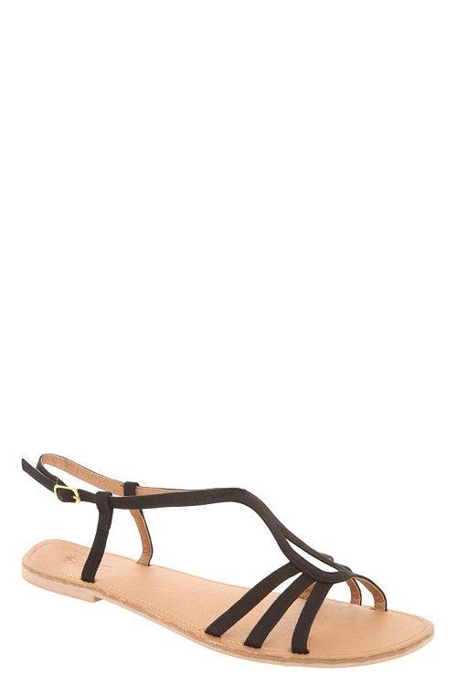 Benefit Black Slide Sandals (Wide Width) | Sandals $28.50