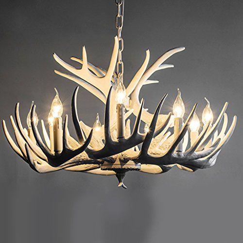 Gut Nordic Amerikanischen Retro Restaurant Lampe Kronleuchter Weiß Geweih  Creative Arts Lampe Beleuchtung Wohnzimmer Schlafzimmer Mittelmeer
