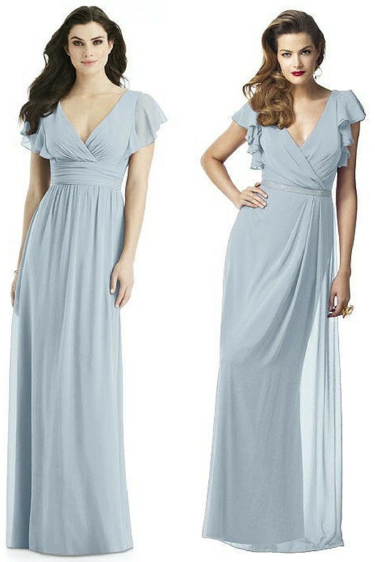 bridesmaid dresses with sleeves | BLUE BRIDESMAID DRESSES + WEDDINGS ...