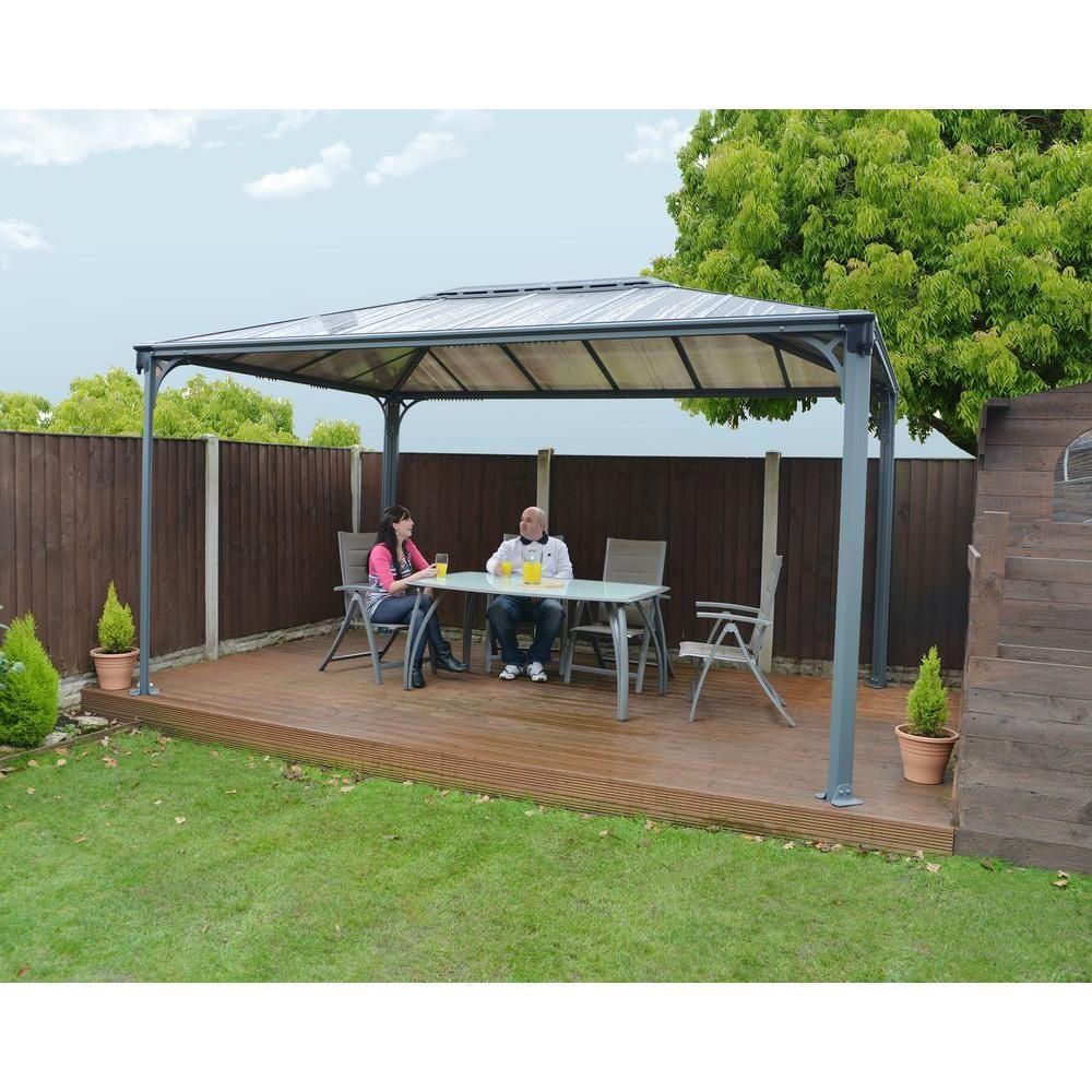 palram martinique 4300 14 ft x 10 ft aluminum frame rectangle gazebo backyard pinterest. Black Bedroom Furniture Sets. Home Design Ideas