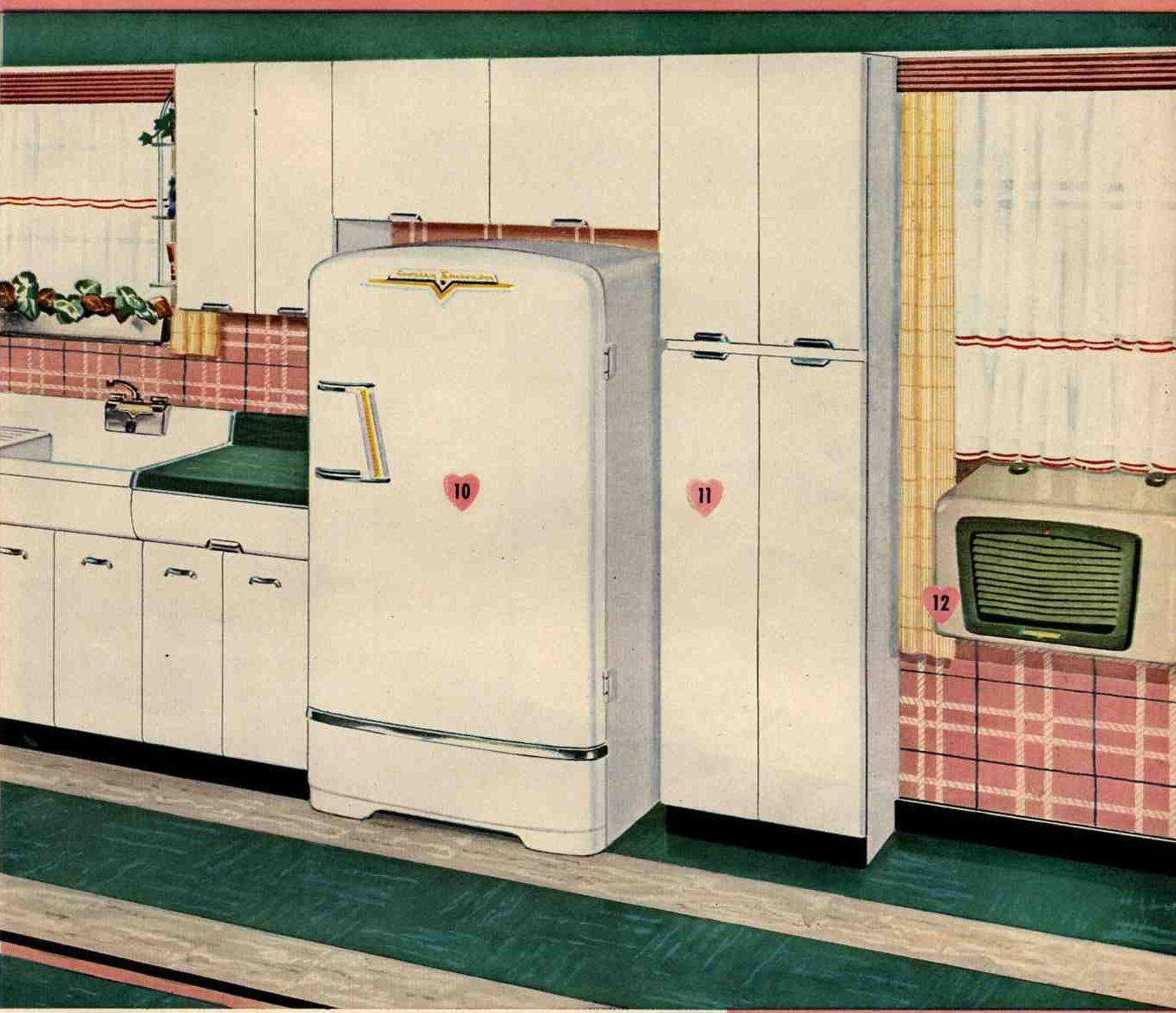 Pin On Vintage Kitchens Baths